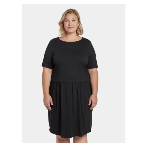 Čierne dámske šaty My True Me Tom Tailor