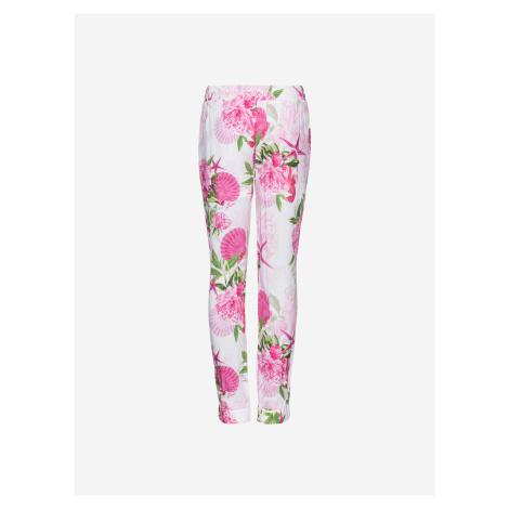 Ružové dievčenské casual nohavice