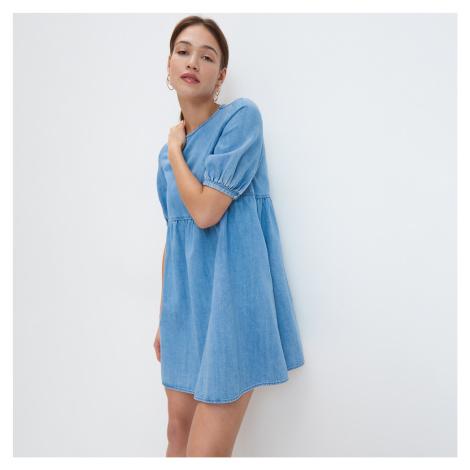 Mohito - Džínsové šaty - Modrá