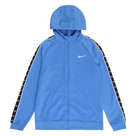Nike Sportswear Tepláková bunda  svetlomodrá / čierna / biela