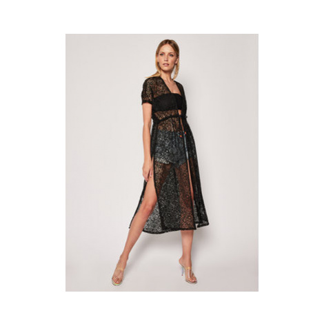 Banana Moon Plážové šaty Elivie Seethroug P4N01 Čierna Regular Fit