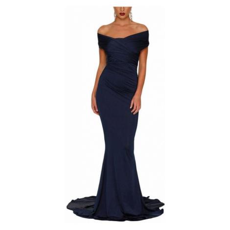Dlhé spoločenské šaty Liliela - tmavomodré