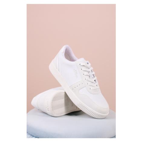 Biele nízke tenisky 5-23611 s.Oliver