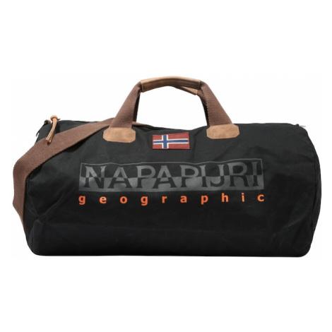 NAPAPIJRI Cestovná taška 'BERING 2'  čierna / hnedá