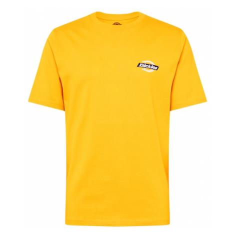 DICKIES Tričko 'RUSTON'  žltá / biela / námornícka modrá