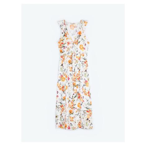 GATE Dlhé šaty s kvetinovou potlačou
