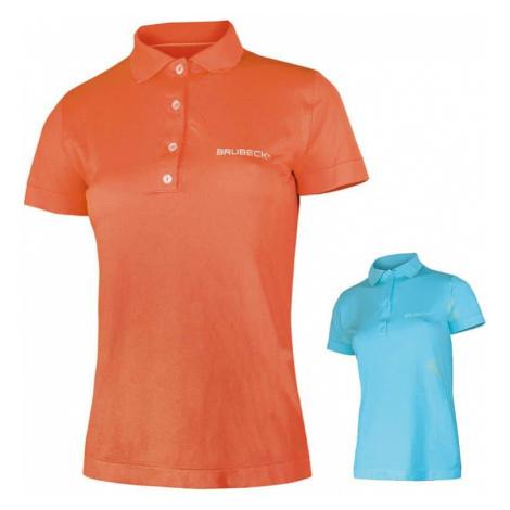 Dámske thermo tričko Brubeck PRESTIGE s golierom Farba oranžová