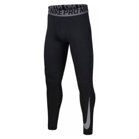 Nike NP THERMA TIGHT GFX B čierna - Chlapčenské tréningové legíny