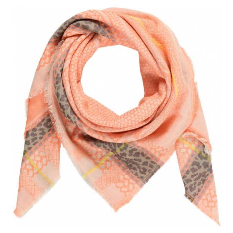 CODELLO Látkové rúško 'SAFARI'  oranžová / tmavošedá / hnedá / žltá / modrosivá