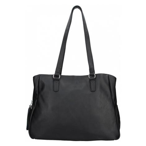 Elegantná dámska kožená kabelka Katana Marionette - čierna