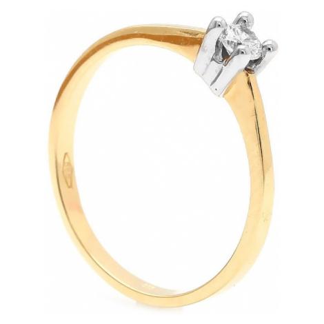 Zlatý zásnubný prsteň TALETTA