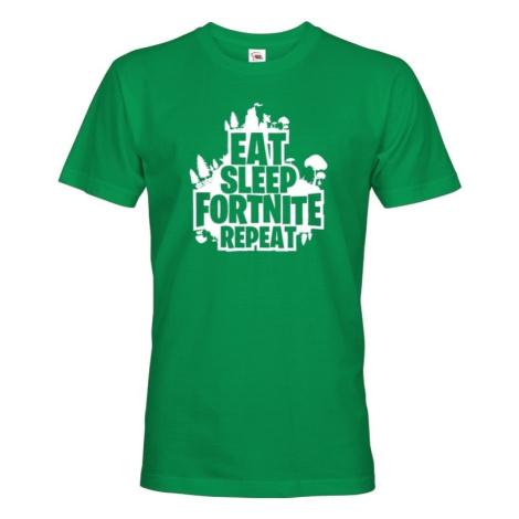 Pánske tričko s potlačou  Eat Sleep Fortnite Repeat