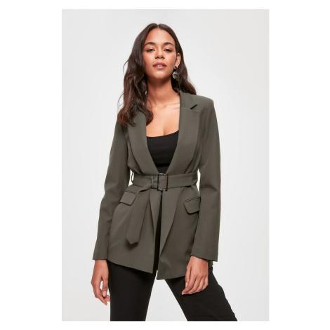 Trendyol Khaki Belt Detailed Blazer Jacket