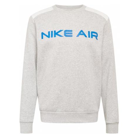 Nike Sportswear Mikina  sivá melírovaná / biela / nebesky modrá / oranžovo červená