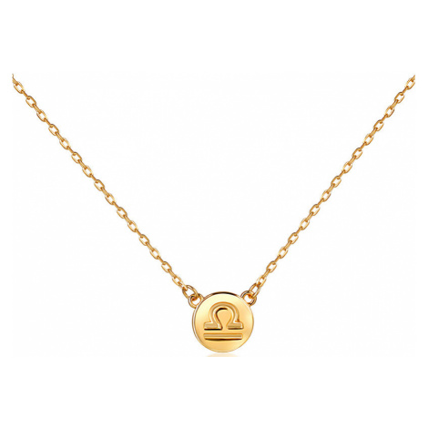 JVD Pozlátený náhrdelník s príveskom Váhy SVLN0165XF3GOVA