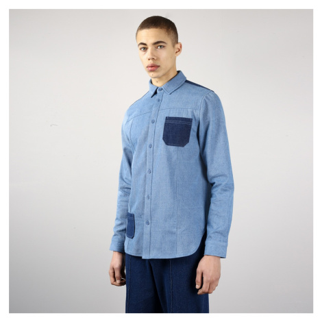 Modrá džínsová košeľa s výraznými vreckami – Bering Native Youth