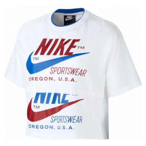 Nike NSW ICN CLSH SS TOP W biela - Dámske tričko