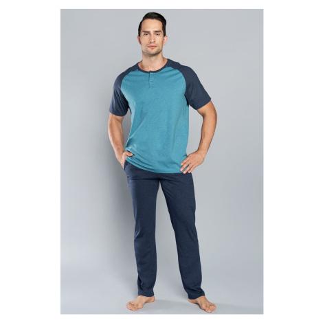 Pánske pyžamo Italian Fashion Umberto SL Tmavě modrá
