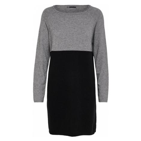 ONLY Pletené šaty  čierna / sivá