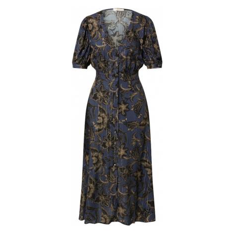 sessun Košeľové šaty 'WAYAN'  námornícka modrá / zlatá / tmelová / čierna Sessùn