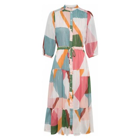 Suncoo Košeľové šaty 'Celena'  rosé / svetlomodrá / krémová / oranžová / smaragdová