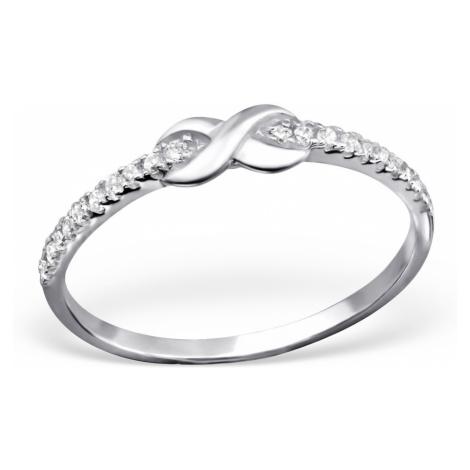 OLIVIE Strieborný prsteň NEKONEČNO s kubickými zirkónmi 1026
