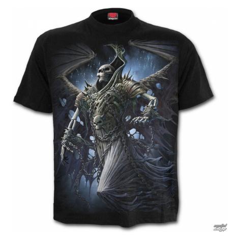 tričko SPIRAL WINGED SKELTON Čierna