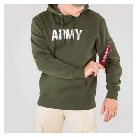Pánska mikina Alpha Industries Army Nav Hoody Army Green - Veľkosť:3XL