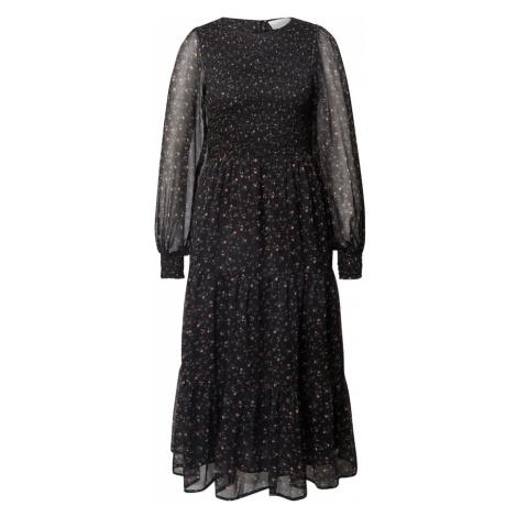 Neo Noir Kokteilové šaty  čierna / ružová / zelená
