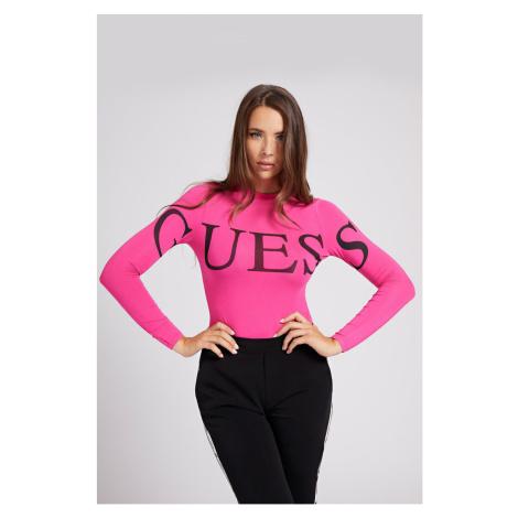 Guess ružové body Front Logo