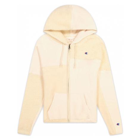 Champion Patchwork Velour Fleece ZIP-UP Hoodie-L biele 113506-F20-YS094-L