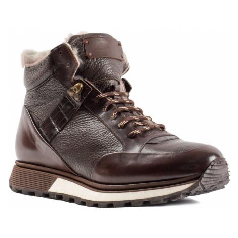 ROBERTO SERPENTINI Marrone zimné topánky