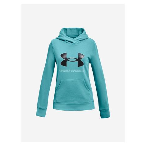 Rival Fleece Logo Mikina dětská Under Armour Modrá