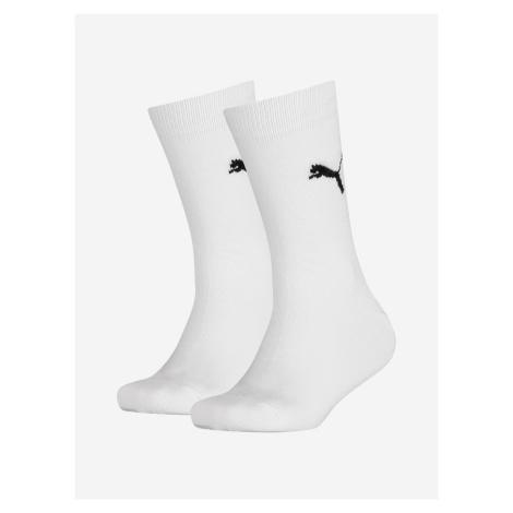 Ponožky Puma Easy Rider Jr 2 Pack Biela