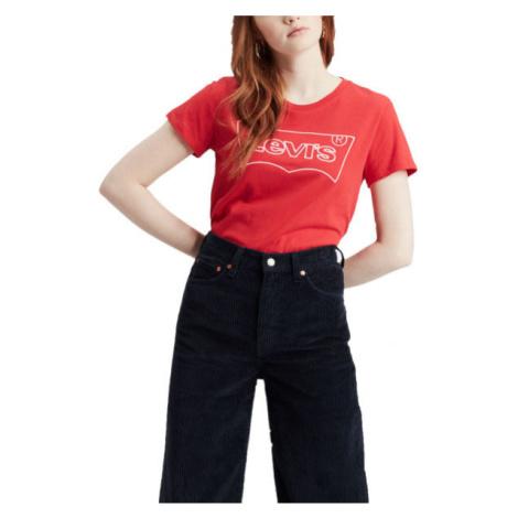 Levi's THE PERFECT TEE HSMK OUTLINE červená - Dámske tričko Levi´s