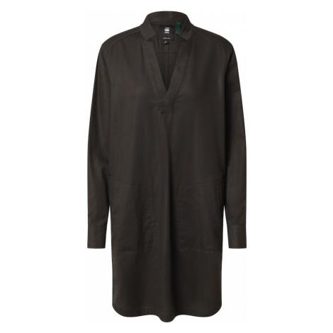 G-Star RAW Košeľové šaty 'Milary'  hnedá