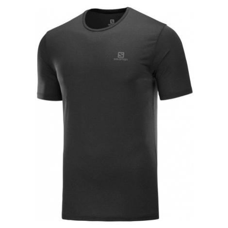 Salomon AGILE TRAINING TEE M čierna - Pánske tričko