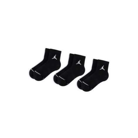 NIKE Súprava 3 párov vysokých ponožiek unisex SX5544 010 Čierna Jordan