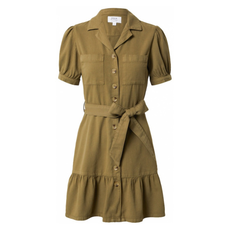 Miss Selfridge Košeľové šaty  tmavozelená