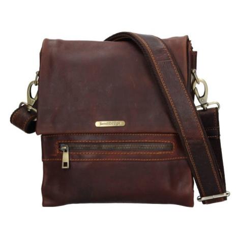 Pánska kožená taška cez rameno SendiDesign Armand - hnedá Sendi Design