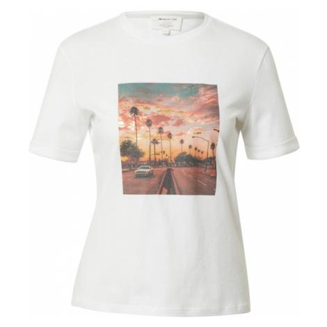 Maison 123 Tričko 'IMAGE'  nebielená / oranžovo červená / modrosivá / čierna / zlatá