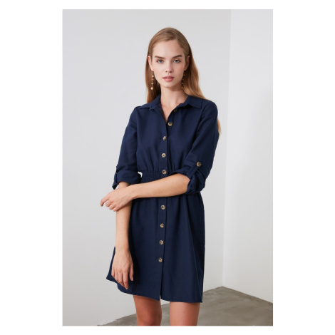Trendyol Navy Shirt Dress