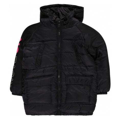 UNITED COLORS OF BENETTON Zimná bunda  čierna / biela / červená