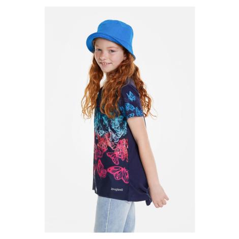 Desigual modré dievčenské tričko Newport s motýlikmi