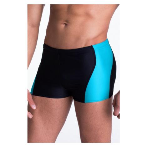 Pánske plavky boxerky Mike s modrým pruhom Primo