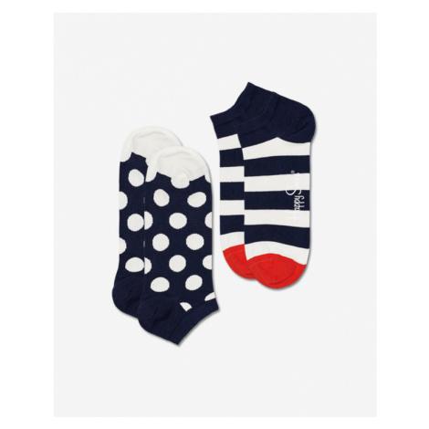 Happy Socks Big Dot Stripe Low Ponožky 2 páry Modrá Biela
