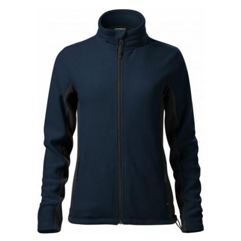 Dámska fleecová bunda kontrastná, tmavomodrá