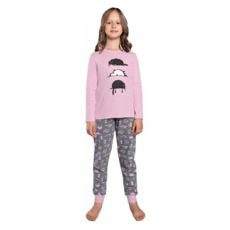 Dievčenské pyžamo Dima ružové Italian Fashion