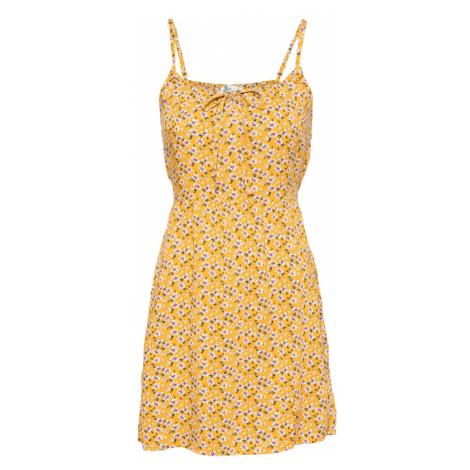 HOLLISTER Letné šaty  žltá / biela / zelená