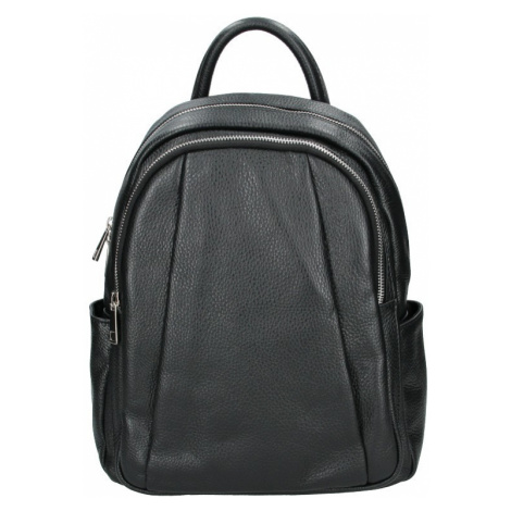 Dámský kožený batoh Delami Nevola - čierna